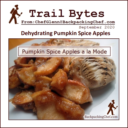Trail Bytes Sept. 2020: Dehydrating Pumpkin Spice Apples