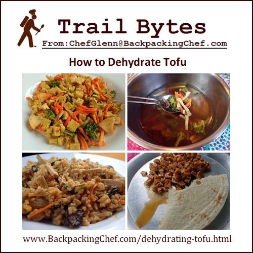 Trail Bytes May 2020: Dehydrating Tofu