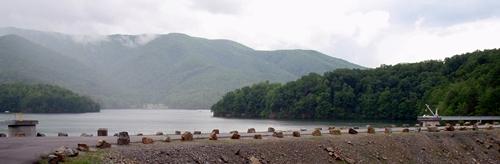 Watauga Lake Dam, Appalachian Trail Tennessee.