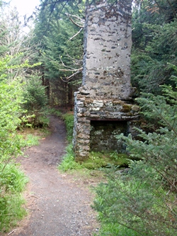 Old rock chimney on the Appalachian Trail, Roan Highlands