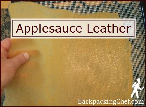 Finished Applesauce Leather.