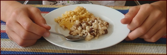 Traditional or Fruity Rice Pudding Backpacking Desserts.