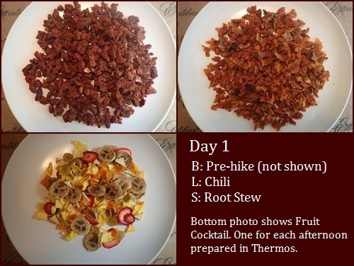Backpacking Meals: Chili, Root Bark Stew.