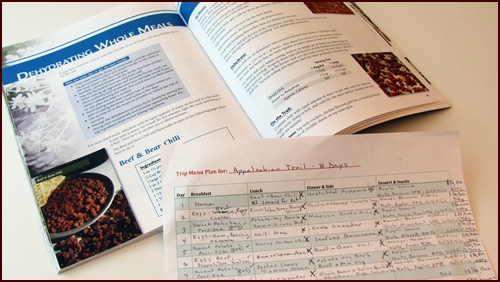 Dehydrating Whole Meals, Recipes for Adventure and The Menu Planning & Food Drying Workbook.