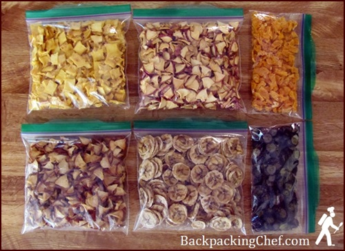 Dehydrated Fruit for 6-day Backpacking Trip.