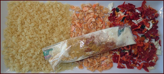 Backpacking Recipe: Curry Shrimp & Rice.