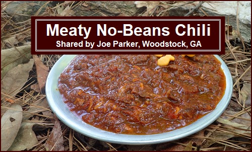 Backpacking Recipe: Meaty No-Beans Chili