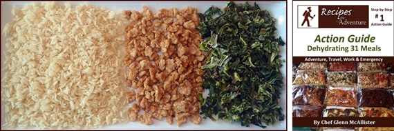 Backpacking Recipe in the Action Guide: Turkey with Broccoli & Rice.