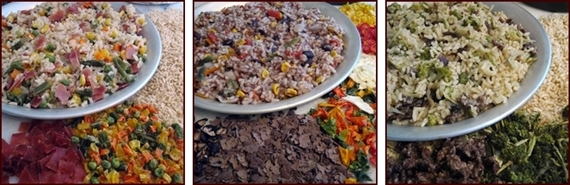 Some of Chef Glenn's Backpacking Rice Recipes.