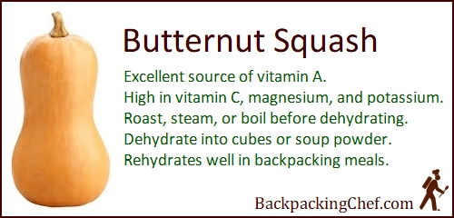 Butternut Squash is a top source of vitamin A, and is high in vitamin C, magnesium, and potassium.