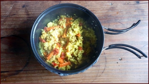 Backpacking Chicken & Rice Recipe: Curry Chicken & Rice.