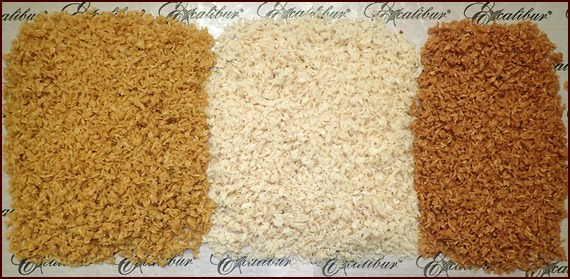 Dehydrated rice that was precooked in vegetable, chicken, and beef broth.