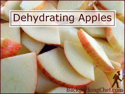 Dehydrating Apples. Sliced for the dehydrator.