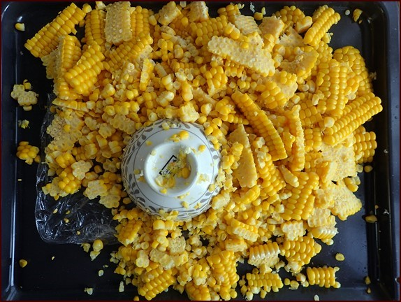 Separate any mats of corn kernels into individual kernal before drying the corn.