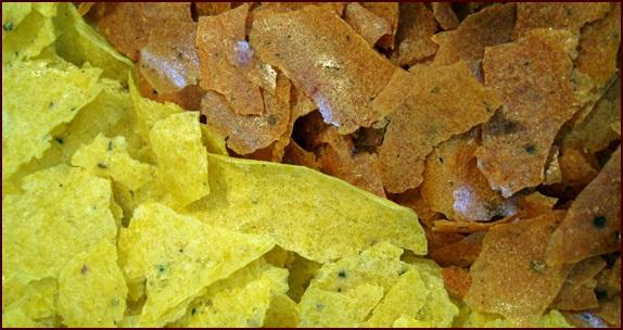 Corn bark and barbecue potato bark.