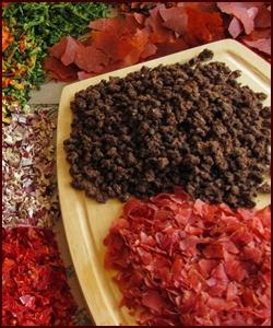 Dehydrated Meat on Cutting Board