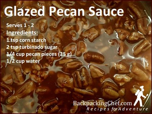 Glazed Pecan Sauce for Sweet Potato Pudding.
