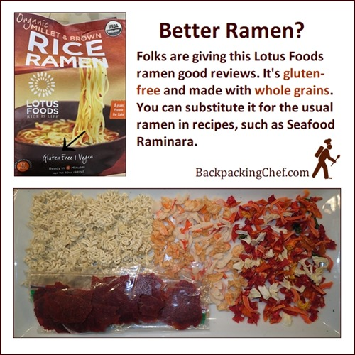 Lotus Foods Ramen Noodles made with millet and brown rice. Gluten-free, whole grain.