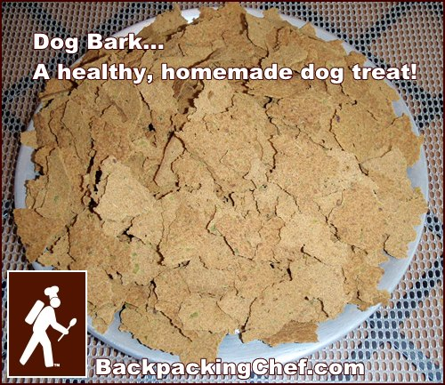 Dog Bark: A Homemade Dog Treat made with a dehydrator