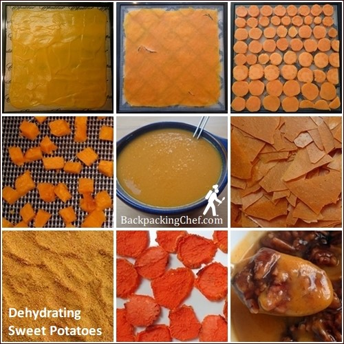 Dehydrating Sweet Potatoes: Baked, boiled, blended, chips, niblets, bark, pudding, soup. The possibilities are endless.