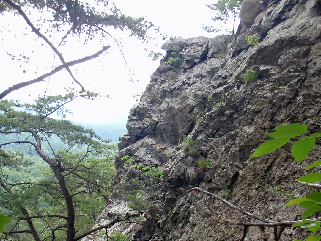 Lovers Leap Rock on the Appalachian Trail above Hot Springs, NC