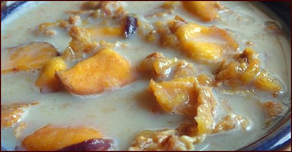 No-cook backpacking breakfast: Peach Crunch Breakfast.