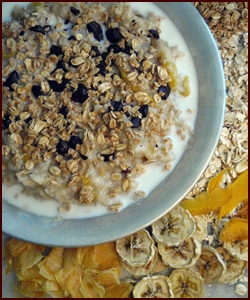 Backpacking Breakfast: Oatmeal with Fruit, Nuts & Chocolate