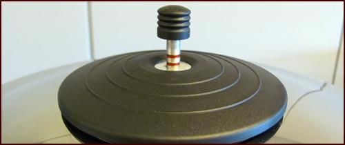 Pressure release valve on pressure cooker.
