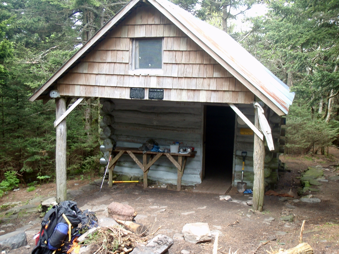 Roan High Knob Shelter, the highest shelter on the Appalachian Trail