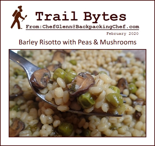 Trail Bytes February 2020: Barley Risotto with Peas & Mushrooms