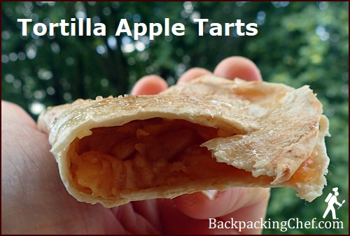 Tortilla Apple Tart made with Dehydrated Apples.
