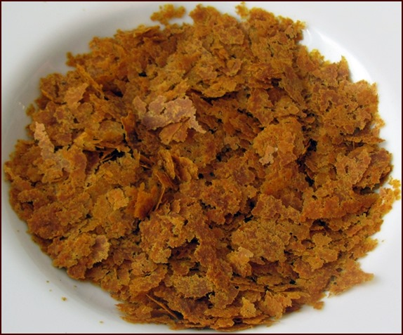 Dried curry-carrot soup.