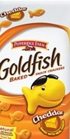 Gold fish for cheddar cheese flavor.