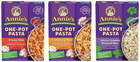 Annie's One-pot Pasta varieties for easy backpacking meals.