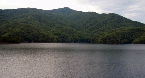 Appalachian Trail, View of Fontanta Lake from Fontana Dam Shelter