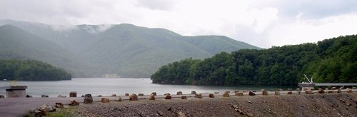 Watauga Lake Dam, Appalachian Trail Tennessee.