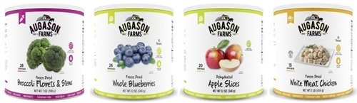 Augason Farms Freeze-Dried Vegetables, Fruits, Chicken