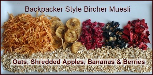 Dehydrated Apples, Bananas, and Berries used in Backpacker Muesli.