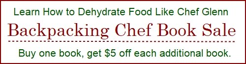 Backpacking Chef Book Sale: Buy one book, get $5 off each additional book.