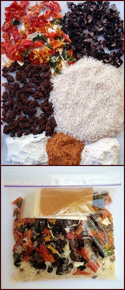 Packing a Dehydrated Meal.