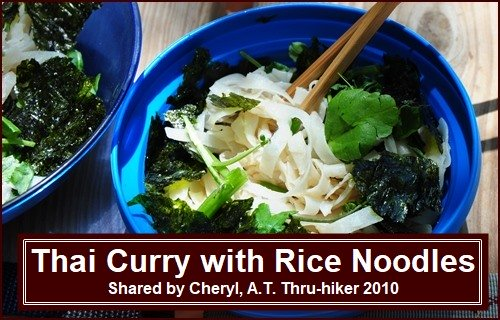 Backpacking Recipe: Thai Curry with Rice Noodles