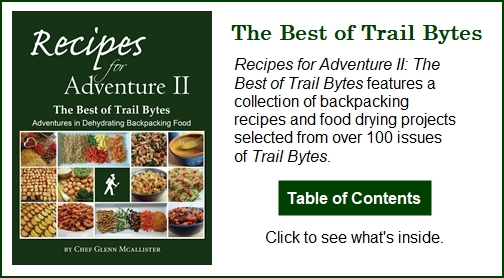 Recipes for Adventure II: The Best of Trail Bytes. Click to see Table of Contents.