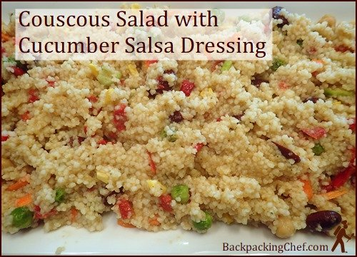 Backpacking Lunch Recipe: Couscous Salad with Cucumber Salsa Dressing
