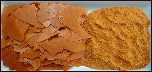 Dehydrated Sweet Potato Soup, bark and powdered.