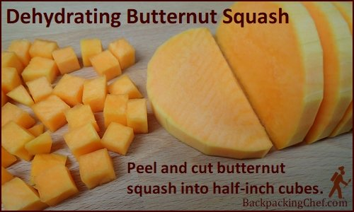 Butternut squash cut into ½-inch slices and cubed.