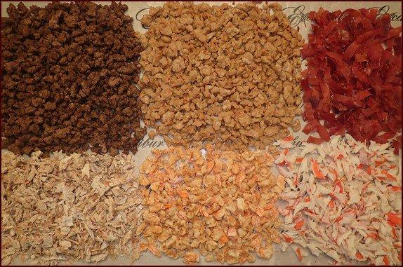 Dehydrating Meat: Ground Beef, Chicken, Ham, Tuna, Shrimp, Crab.