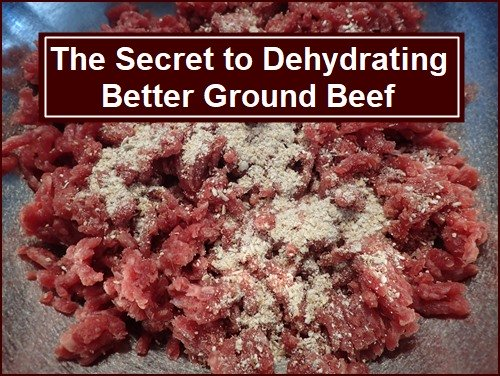Dehydrating Meat: The Secret to Dehydrating Ground Beef is to add Breadcrumbs.