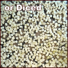 Diced Potatoes for Dehydrating