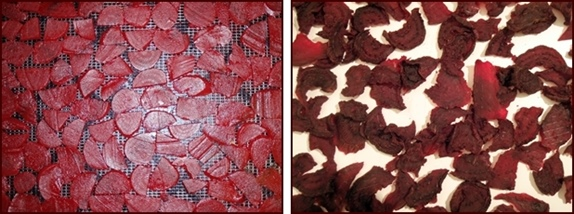 Dehydrating Beets