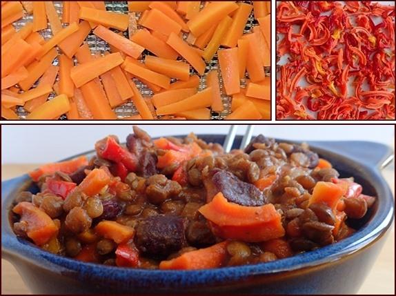 Dehydrating Carrots